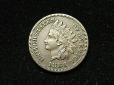 SUMMER SALE!!  XF 1883 INDIAN HEAD CENT PENNY w/ DIAMONDS & FULL LIBERTY #136s