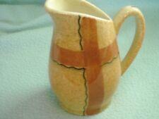 Creamer Pitcher Hycroft Art Pottery Medicine Hat Alberta CD Plaid Calico Vintage