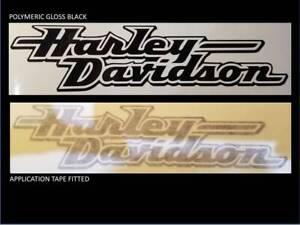 2 x HARLEY DAVIDSON style Tank decal chopper sticker white black grey orange