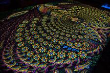 """PSY BACKDROP """"Butterfly MonteZooma"""" - UV blacklight tapestry, psychedelic art"""