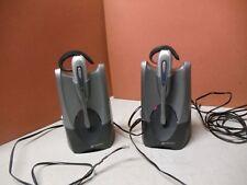 2 Sets of Plantronics CS50 Wireless USB Charger Base w/Bluetooth Headset