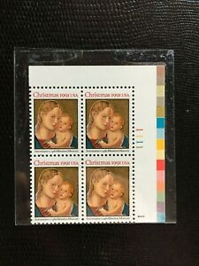 USStamps Sc# 2578 Madonna & Child Plate Block - MNH