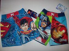 Superman Avengers Swimsuit Swimwear Trunks Bathing Suit Boys Toddler UPF 50+ New