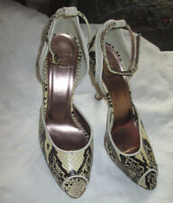 JUST CAVALLI WOMEN'S SNAKESKIN SANDALS w/ ANKLE STRAP SZ: 39M NWOB MADE IN ITALY