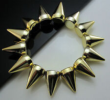 Unisex Golden Plastic Basketball Spikes Punk Stretch Bracelets wristbands gift