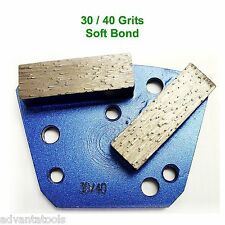 Trapezoid HTC Style Grinding Shoe / Disc / Plate - Soft Bond - 30/40 Grit