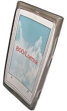 SILIKON TPU HANDY COVER CASE SMOKE für NOKIA 800 LUMIA + DISPLAYSCHUTZFOLIE