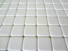 Lot of 25 Blank White Dice / Counting Cubes 16mm 16 mm D6 Square Gaming Casino