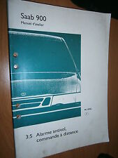 Saab 900 workshop manual: part 3:5 burglar alarm remote control 1995...