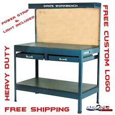Garage Work Bench Table Reloading Machine Shop similar Gladiator Hobby Steel New