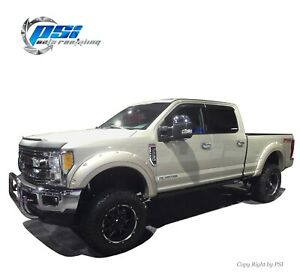 Trim and Bolt Fender Flares Fits Ford F-250, F-350 Super Duty 17-20 Paintable