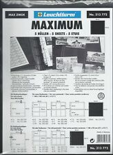MAXIMUM Stock Sheets ZWLN BLACK Interleaves for Clear Sheets Pkg. 5