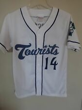 Vintage MiLB Asheville Tourists SGA Button Front Baseball Jersey Youth L Rockies