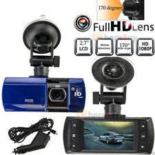 "1080P 2.7"" HD LCD Dual Lens Car Dash Camera Video DVR Cam Recorder Night Vision"