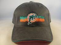 Miami Dolphins NFL Vintage Strapback Hat Cap Gray