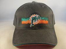 NFL Miami Dolphins Vintage Strapback Hat Cap Gray