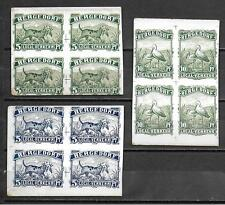Bergedorf stamps private Stadt Post Cardboard PROOFs in Blocs of 4 VF RARE!