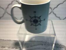 New Life is Good White Mug With Compass