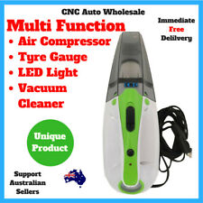 Handheld Portable Car Vacuum Cleaner + Air Compressor LED Light Tyre Gauge 12V