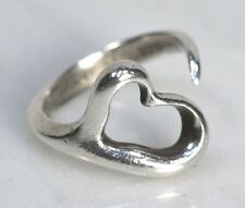Vintage TIFFANY & CO. Elsa Peretti Sterling Silver Open Heart Ring.  Size 5.5