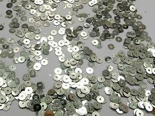 8000 Silver 5mm Flat Round loose sequins Paillettes sewing Wedding craft