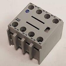 Allen-Bradley A40, Ser.B Contact Block 100-F, 10A, 4-NO Contacts