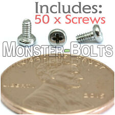 M1.6 x 3mm - Qty 50 - Stainless Steel Phillips Pan Head Machine Screws DIN 7985