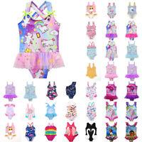 Girls Kids Baby Bathing Suit Swimwear Bikini Tankini Swimsuit Swimming Costume