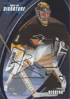 2002-03 BAP Signature Series Hockey AUTO #22 Johan Hedberg Pittsburgh Penguins