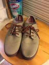 Vans 10.5 Mens Lace Up Hemp Khaki Walking Skating Shoes