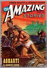 GLOSSY UNREAD! Jun 1946 25c AMAZING STORIES Sci-Fi Pulp Mag! Like Newstand Fresh