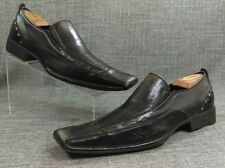 Steve Madden Black Casual Dress Loafers Slip On Leather Size 9