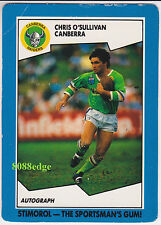 1989 SCANLENS/STIMOROL RUGBY LEAGUE: CHRIS O'SULLIVAN #39 CANBERRA RAIDERS (a)