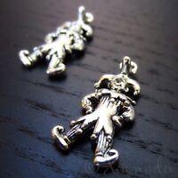 Jester Charms - Wholesale Antiqued Silver Plated Pendants C0351 - 5, 10, 20PCs