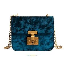 Women Velvet Shoulder Bag Messenger Cross Body Bags Chain Handbag Purse Tote