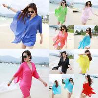 Women Chiffon Beach Cover up Swimsuit Kimono Cardigan Shawl Beach Wrap Cover up