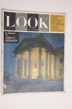 Look Magazine JFK kennedy 12/31/1963 Koufax Camel Pepsi Bianchi Ford Colgate M02
