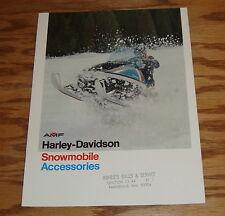 Original 1974 Harley Davidson Snowmobile Accessories Sales Brochure 74