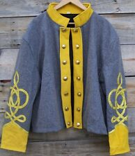 civil war confederate reenactor cavalry shell jacket with 4 row braids 44