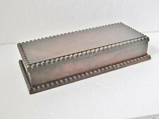 Antique Wooden * GLOVE BOX * Nice Carved Detail Lovely Patina