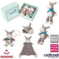 Aurora Dippity Donkey All Sizes Plush Cuddly Soft Toy Rattle Teddy Babies Baby