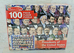 Melissa & Doug Floor Puzzle -Presidents Of The United States-100 Pieces- 2' x 3'