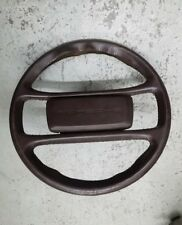 porsche 944 924 steering wheel + horn pad brown GOOD CONDITION LEATHER