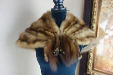 Small Sable Fur Stole Wrap Cape Jacket Coat 3508s