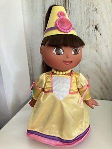 "2003 Mattel Dora the Explorer Magic Hair Fairytale Princess Doll Talks 14"""