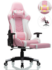 OHAHO Ergonomic Gaming Chair High Back Racing Office Chair with Footrest Pink