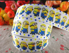 Despicable Me Minions Character 25mm Grosgrain Ribbon for Card Making or Bows