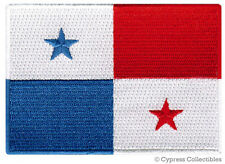 PANAMA FLAG embroidered iron-on PATCH CENTRAL AMERICAN EMBLEM souvenir applique