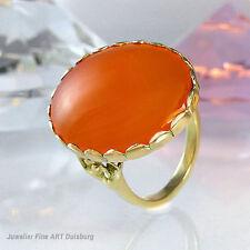 Ring in 585/- Gelbgold mit großen Karneol