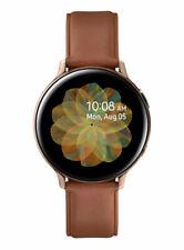 Samsung Galaxy Watch Active 2 40mm Caja de acero inoxidable en tono dorado con Correa de piel en rosa (Bluetooth)
